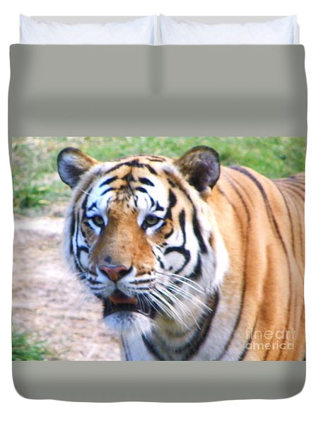 Duvet Cover featuring the photograph Bengal Tiger by Shirley Moravec