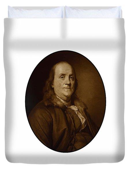 Benjamin Franklin - Three Duvet Cover