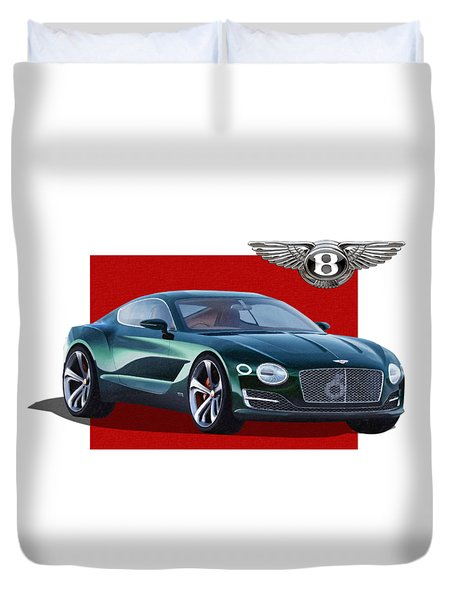 Bentley E X P  10 Speed 6 With  3 D  Badge  Duvet Cover