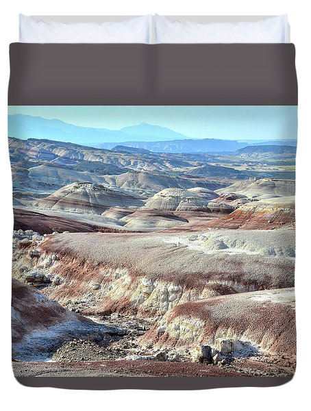 Bentonite Clay Dunes In Cathedral Valley Duvet Cover