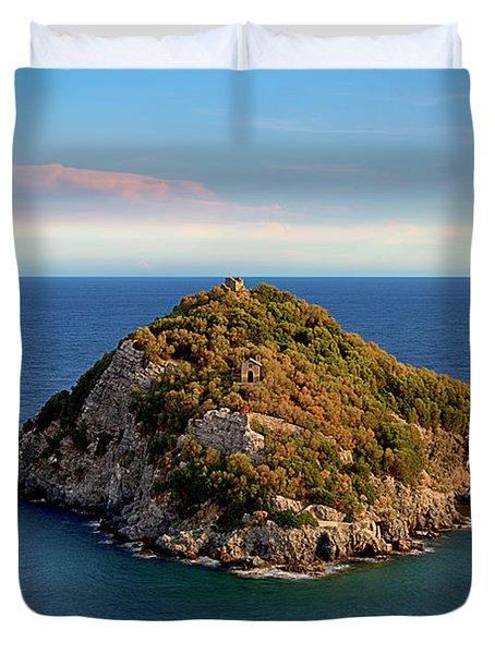 Bergeggi Island Duvet Cover