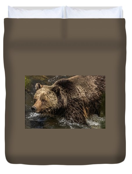Beryl Springs Sow In The River Duvet Cover