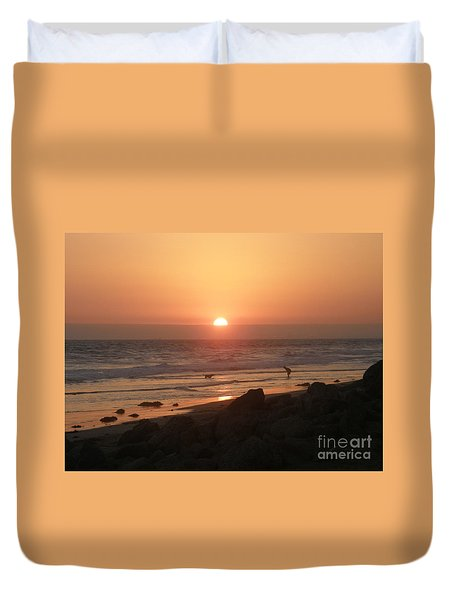 Best Friends At The Beach Duvet Cover