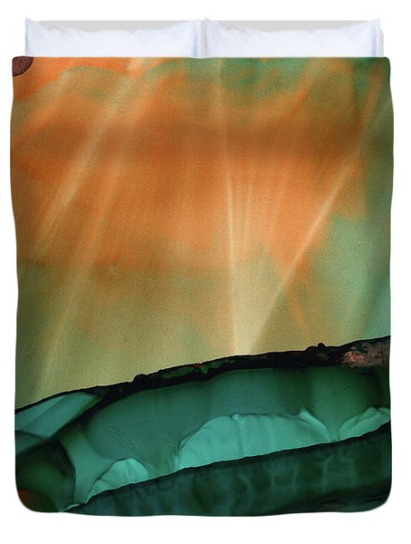 Beyond The City Lights Duvet Cover