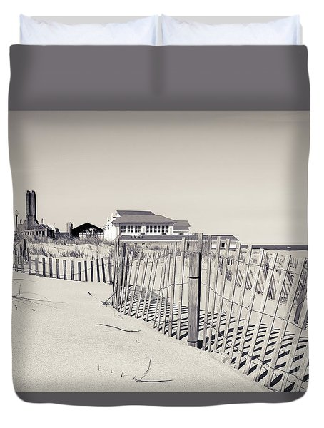 Duvet Cover featuring the photograph Beyond The Dunes by Colleen Kammerer