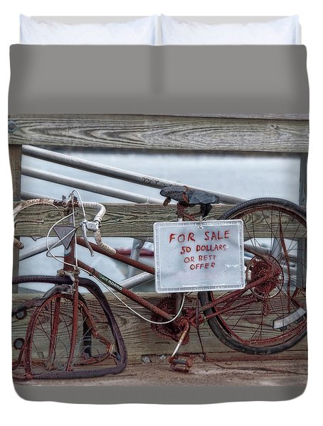 Bicycle For Sale Duvet Cover