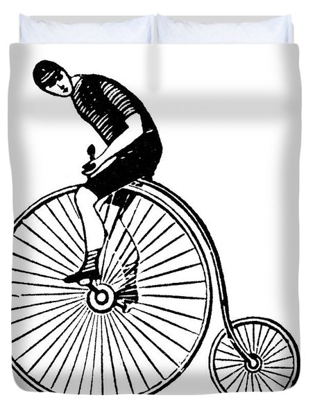 Bicycling Duvet Cover by Granger