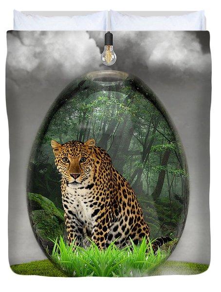 Big Cat Leopard Art Duvet Cover