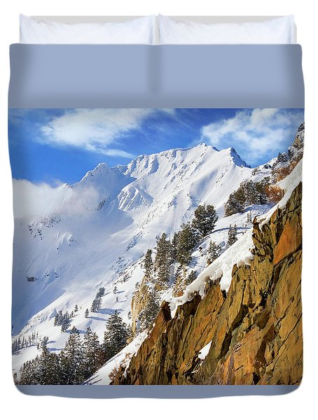 Big Cotonwood Canyon Duvet Cover