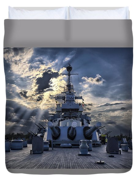 Big Guns Duvet Cover by Denis Lemay