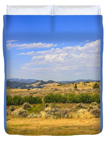 Big Sky Montana Duvet Cover