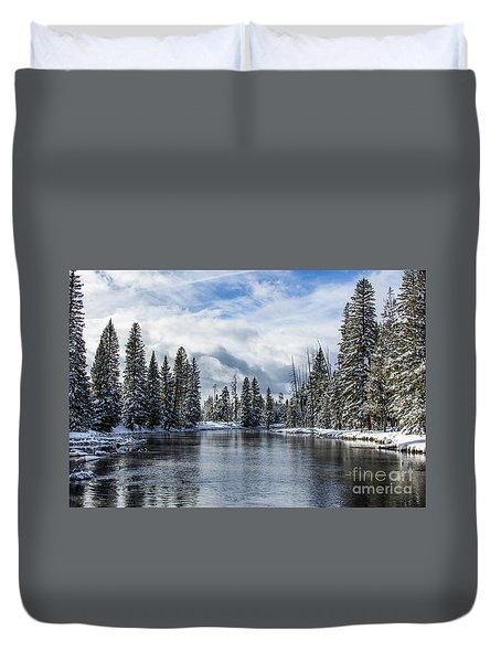 Big Springs In Winter Idaho Journey Landscape Photography By Kaylyn Franks Duvet Cover