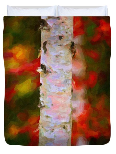Birch Tree Duvet Cover by Andre Faubert