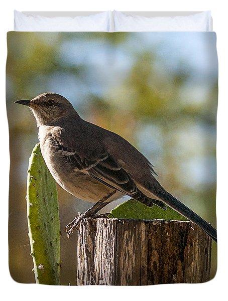 Bird On A Post Duvet Cover