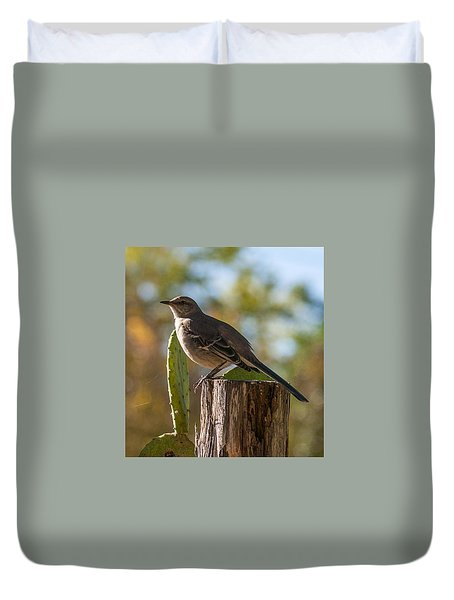 Bird On A Post Duvet Cover