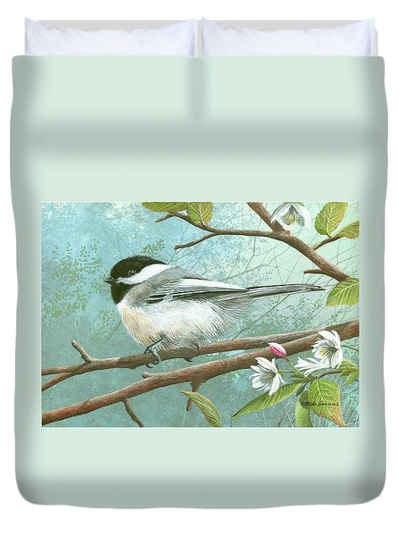 Black Cap Chickadee Duvet Cover