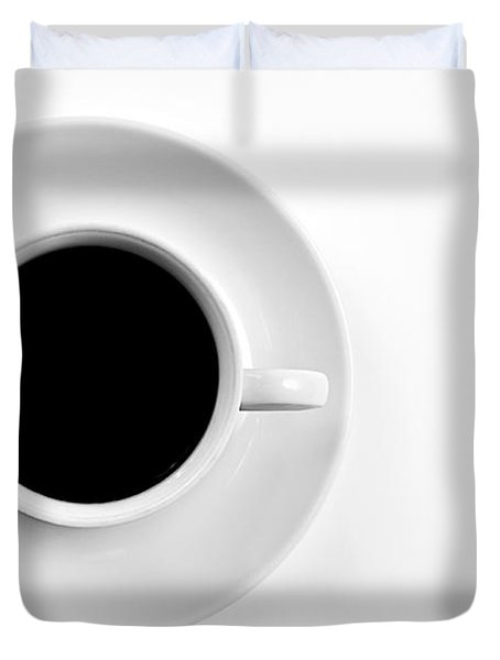Duvet Cover featuring the photograph Black Coffee by Gert Lavsen