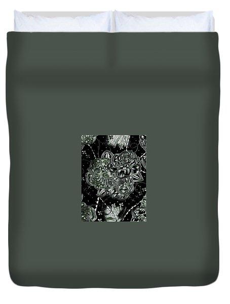 Black Flower Duvet Cover