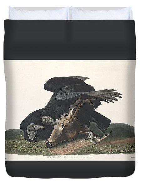 Black Vulture Duvet Cover by Rob Dreyer