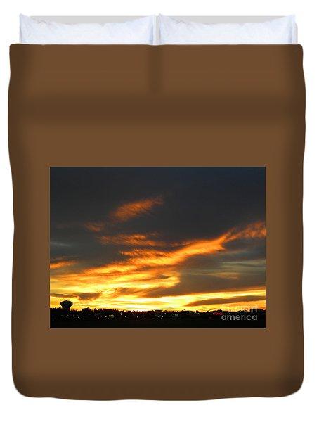 Blazing Carolina Sunset Duvet Cover