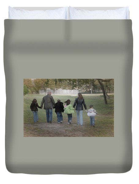 Blended Family Duvet Cover