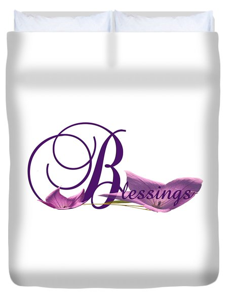 Blessings Duvet Cover