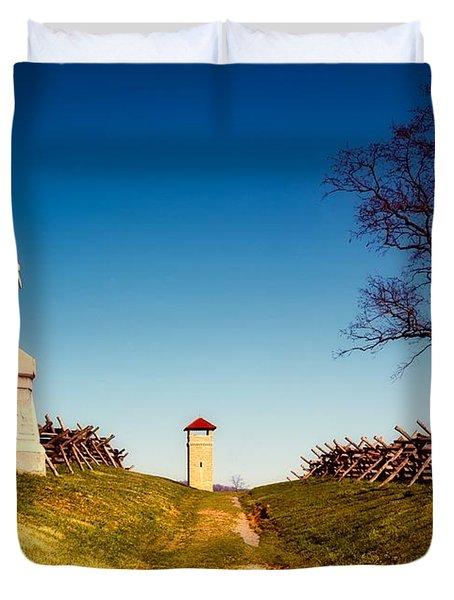 Bloody Lane - Antietam Battlefield Duvet Cover