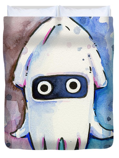 Blooper Watercolor Duvet Cover
