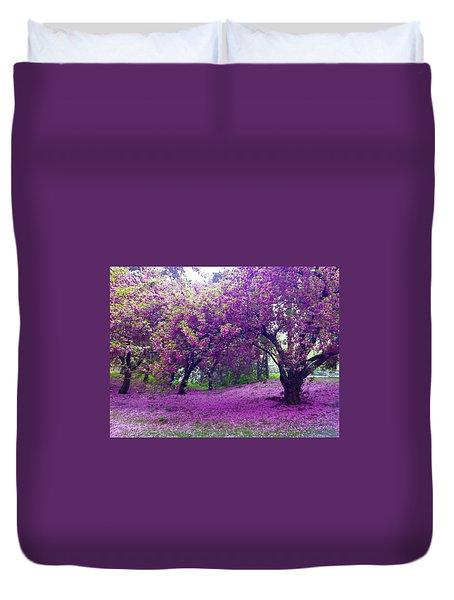 Blossoms In Central Park Duvet Cover