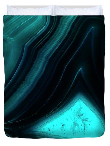 Blue Agate Duvet Cover