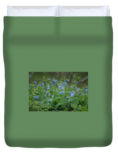 Blue Bells Duvet Cover by Heidi Poulin