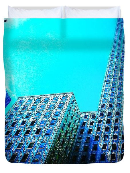 #blue #buildings And #bluesky On A Duvet Cover
