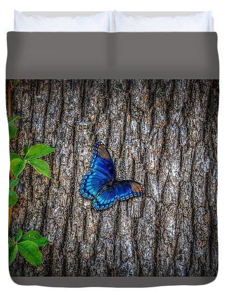 Blue Butterfly Duvet Cover by Doug Long