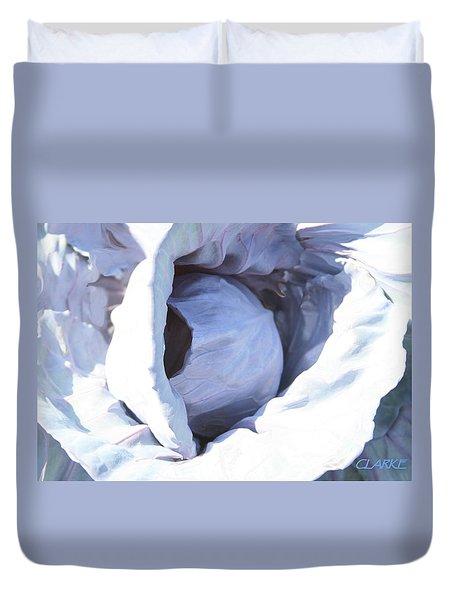 Blue Cabbage Duvet Cover