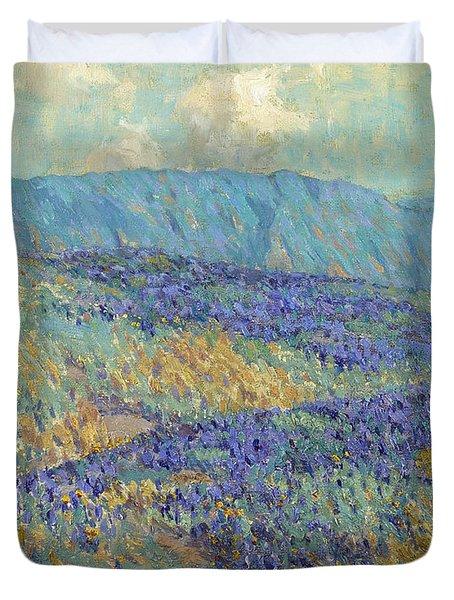Blue Flowers Duvet Cover