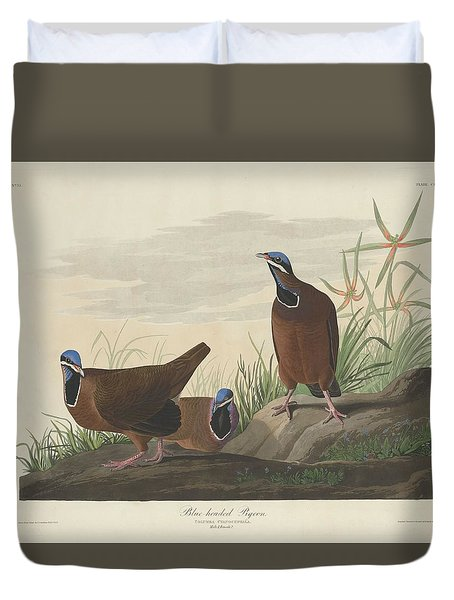 Blue-headed Pigeon Duvet Cover