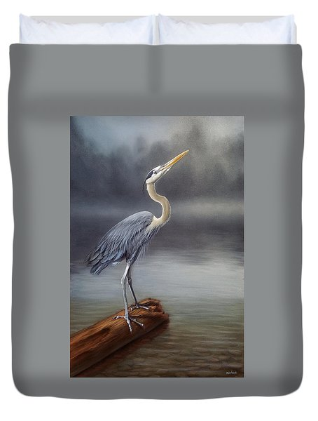 Blue Heron Duvet Cover