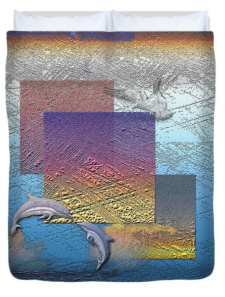 Blue Lagoon Sunrise  Duvet Cover by Serge Averbukh