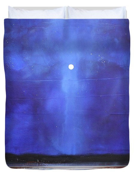 Blue Night Magic Duvet Cover by Toni Grote