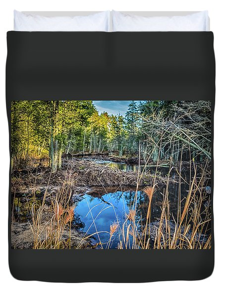 Blue Reflection Duvet Cover