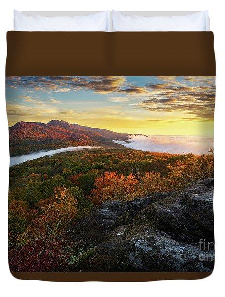 Blue Ridge Morning Duvet Cover