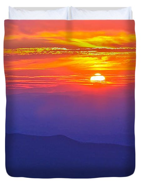 Blue Ridge Parkway Sunset, Va Duvet Cover by The American Shutterbug Society