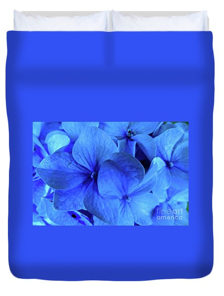Blue Duvet Cover by Nancy Patterson