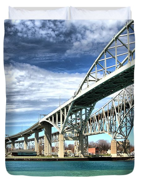Blue Water Bridge Duvet Cover