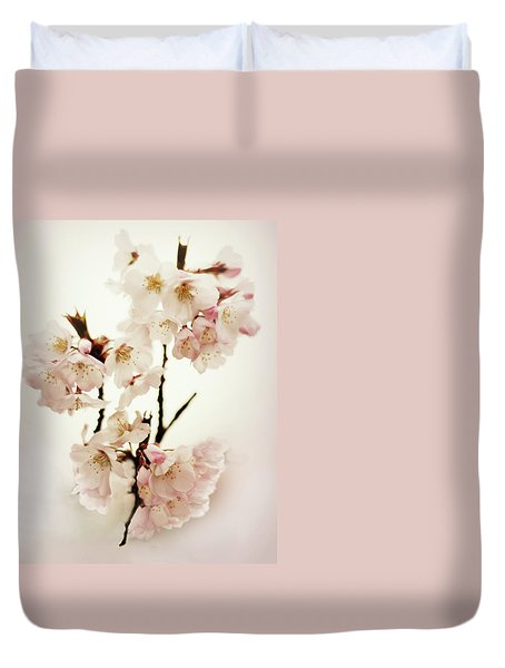 Duvet Cover featuring the photograph Blushing Blossom by Jessica Jenney