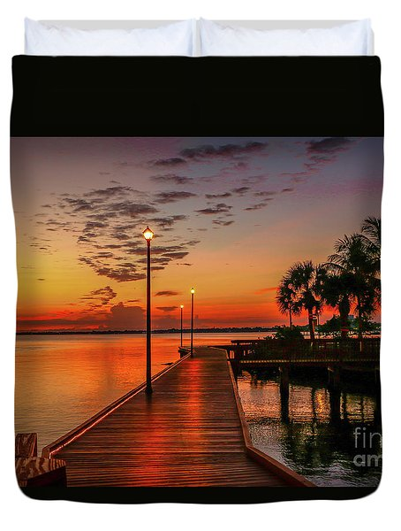 Boardwalk Sunrise Duvet Cover
