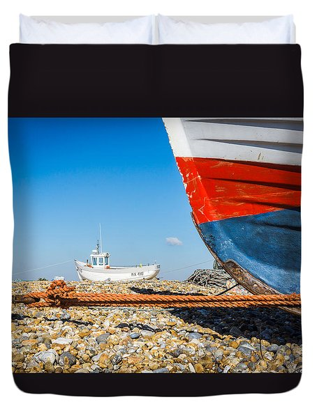 Duvet Cover featuring the photograph Boats by Gary Gillette