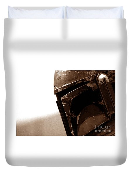 Duvet Cover featuring the photograph Boba Fett Helmet 33 by Micah May