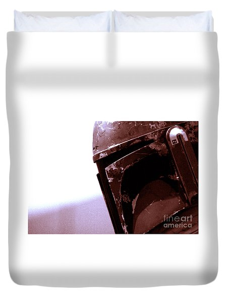 Duvet Cover featuring the photograph Boba Fett Helmet 34 by Micah May