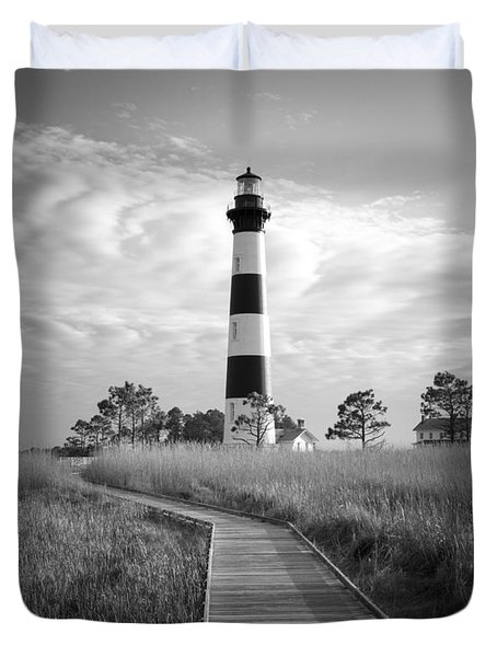 Bodie Island Lighthouse Duvet Cover by Marion Johnson